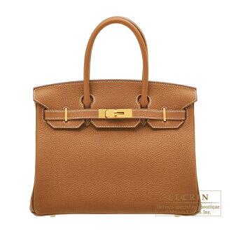 헤르메스 버킨 30 고르드트고고르드 쇠장식 HERMES Birkin bag 30 Gold Togo leather Gold hardware
