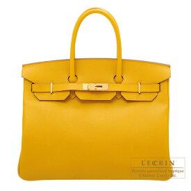 エルメス バーキン35 ジョーヌアンブル ヴォーエプソン ゴールド金具 HERMES Birkin bag 35 Jaune ambre Epsom leather Gold hardware
