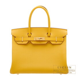 エルメス バーキン30 ジョーヌアンブル ヴォーエプソン ゴールド金具 HERMES Birkin bag 30 Jaune ambre Epsom leather Gold hardware