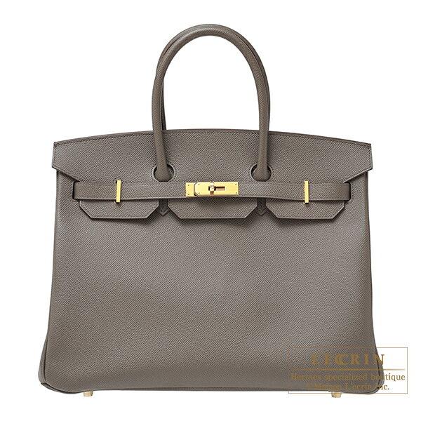 エルメス バーキン35 エタン ヴォーエプソン ゴールド金具 HERMES Birkin bag 35 Etain Epsom leather Gold hardware