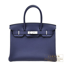 エルメス バーキン30 ブルーアンクル トゴ シルバー金具 HERMES Birkin bag 30 Blue encre Togo leather Silver hardware
