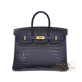 エルメス バーキン25 ブルーサフィール クロコダイル ニロティカス ゴールド金具 HERMES Birkin bag 25 Blue saphir Niloticus crocodile skin Gold hardware