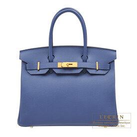 エルメス バーキン30 ブルーブライトン ヴォーエプソン ゴールド金具 HERMES Birkin bag 30 Blue brighton Epsom leather Gold hardware