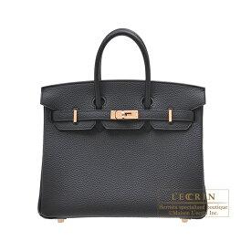 エルメス バーキン25 ブラック トゴ ローズゴールド金具 HERMES Birkin bag 25 Black Togo leather Rose gold hardware