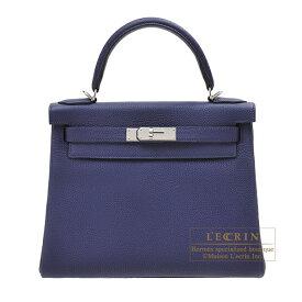 エルメス ケリー28/内縫い ブルーアンクル トゴ シルバー金具 HERMES Kelly bag 28 Retourne Blue encre Togo leather Silver hardware