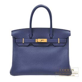 エルメス バーキン30 ブルーサフィール トリヨンノビーヨ ゴールド金具 HERMES Birkin bag 30 Blue saphir Novillo leather Gold hardware