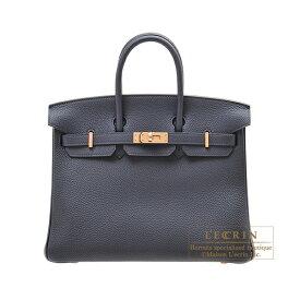 エルメス バーキン25 ブルーニュイ トゴ ローズゴールド金具 HERMES Birkin bag 25 Blue nuit Togo leather Rose gold hardware