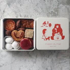 《全てパティシエの手作り》メゾン・デュ・ミエル 赤い クッキー缶【 焼き菓子 お菓子 サブレ 美味しいクッキー クッキー 詰め合わせ レトロ 缶 缶入り ギフト かわいい 可愛い おしゃれ 可愛いお菓子 かわいいお菓子 クッキー サブレ ギフト プチギフト プレゼント お中元】