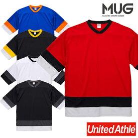 Tシャツ ユナイテッドアスレ 4.1オンス ドライ ホッケー Tシャツ 5935-01 UnitedAthle レイヤード ビッグシルエット