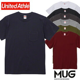 メール便送料無料 Tシャツ ユナイテッドアスレ 5006-01 5.6オンス ハイクオリティー Tシャツ(ポケット付) UnitedAthle インナーおしゃれ アウトドア カジュアル シンプル 定番