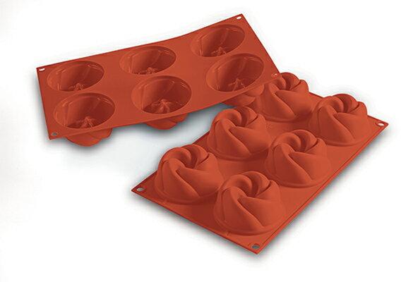 シリコマート シリコンフレックス SF158 ヴァーティゴ (6個付) シリコンゴム型│silikomart 耐熱 シリコン おしゃれ お菓子型 焼き型 冷凍 冷蔵 ゼリー アイス ババロア 石鹸 せっけん ろうそく オーブン 電子レンジ 使える