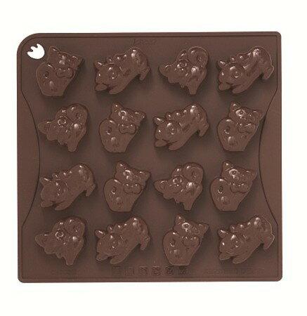 【PAVONI パボーニ】【チョコレート型】チョコアイスモールド キャット CHOCO10 KITTY【シリコンゴム型】