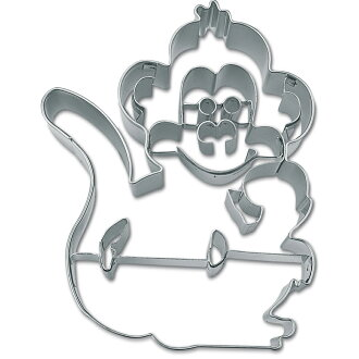[STADTER in German] cookie cutter (monkey shape with line)