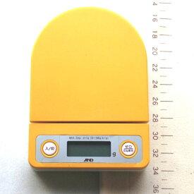 AND エーアンドディー デジタルクッキングスケール 3kg イエロー│デジタル キッチン スケール 0.1g 微量 イースト 測り はかり 粉量 ハカリ パン作り お菓子作り