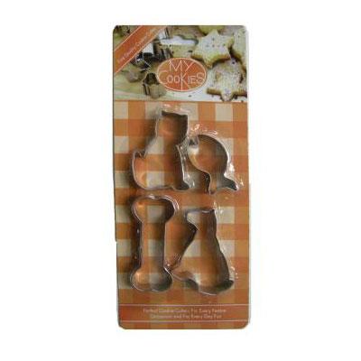 クッキー型セット 猫 犬 4個 セット ステンレス ネコ ねこ イヌ いぬ | 動物 クッキー抜き型 クッキー 型 抜き型 抜型 型抜き クッキーカッター おしゃれ かわいい 可愛い お菓子作り 菓子道具 手作り お菓子 誕生日 プレゼント 子供 馬嶋屋菓子道具店