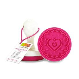スクラップクッキング クッキー型 クッキースタンプ ハート シリコンゴム | SCRAP COOKING バレンタイン