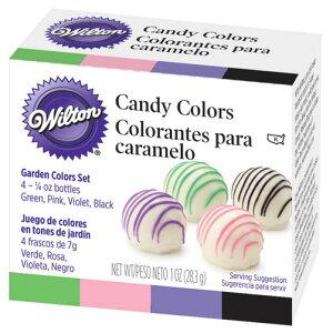 【Wiltonウィルトン】ガーデンキャンディカラー4色セット【キャンディーメルツ用カラー】