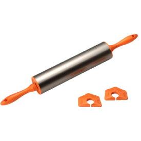 厚さ 調整 パーツ付 ローリング めん棒 | 生地 2mm 4mm 6mm 8mm タイガークラウン CAKELAND ケーキランド 1659