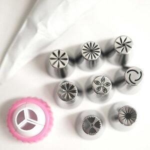 【口金セット】立体口金(小)8種類+絞り袋セット