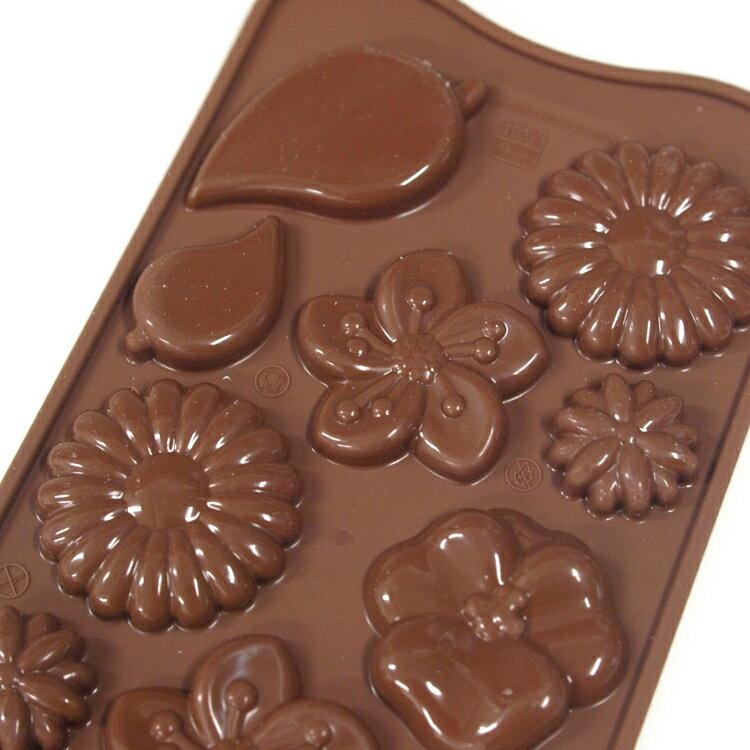 【シリコマート Silikomart】【チョコレート型】チョコガーデン(12個付)【シリコンゴム型】EASY CHOCO イージーチョコ 花 フラワー