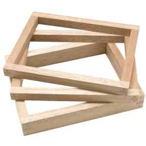 【お取り寄せ】【他の商品と同梱不可】カステラ枠 8斤 木製(ラワン) | 和菓子道具カステラ型 業務用