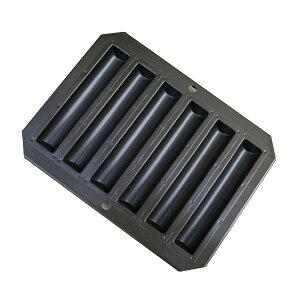 スーパーシリコン加工ラフト型6個付(スティックフィナンシェ型)(150×26×高18mm)