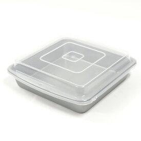 ウィルトン シリコン加工 カバードパン 角 デコレーション型 共底 | wilton 空焼き 不要 型 デコ デコレーション 角デコ デコ型