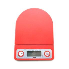 AND エーアンドディー デジタルクッキングスケール 3kg レッド | デジタル キッチン スケール 0.1g 微量 イースト 測り はかり 粉量 ハカリ パン作り お菓子作り