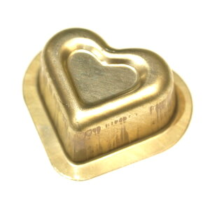 シリコン 加工 黄金 ダブル ハート 型 単品 バレンタイン   空焼き 不要 シリコン ハート型ハートケーキ 手作り お菓子作り 焼型 マドレーヌ フィナンシェ ケーキ ケーキ型 プレゼント 贈り物