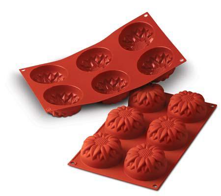 シリコマート シリコンフレックス SF076 ビッグサンフラワー (6個付) 【シリコンゴム型】 silikomartのケーキ型