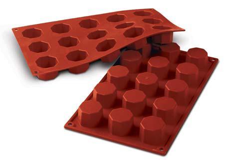シリコマート シリコンフレックス SF037 オクタゴン (15個付) シリコンゴム型│silikomart 基本形 八角形 耐熱 シリコン おしゃれ お菓子型 焼き型 冷凍 冷蔵 ゼリー アイス ババロア 石鹸 せっけん ろうそく オーブン 電子レンジ 使える