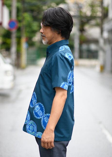 ☆リゾート人気2020☆かりゆしウェアかりゆしシャツ結婚式メンズ半袖シャツ大きいサイズ沖縄版アロハシャツMAJUNマジュンmajunギフトプレゼント国産波