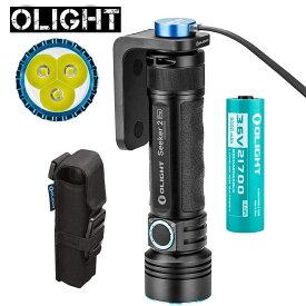 OLIGHT オーライト SEEKER 2 PRO ブラック 3200高ルーメン 最強led懐中電灯 3個 CREE XP-L LED 最強 ルーメン ライト 5段階切替 フラッシュライト 強力 パワーと電池残容量インジケーター持ち ハンディライト 21700 5000mAh充電電池付き