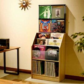 大人のレコードラック レコード 棚 収納 LPレコード レコードディスプレイラック 約280枚 【幅71×奥行34.5×高さ171.5cm】 木目ナチュラル 木目ダーク RCS710 オークス AUX 見せる収納 レコードラック アナログ盤 ショップ 新生活