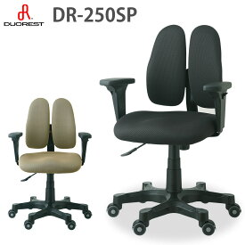 デュオレスト 送料無料 デュオレスト ビジネス 疲れにくい オフィスチェア 腰痛対策 DR-250SP ブラック 黒 ブラック 黒 テレワーク 在宅勤務 在宅 チェア 新生活 イエナカ