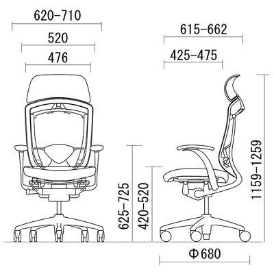 オカムラコンテッサCM82BBスタンダードメッシュチェア大型ヘッドレストフレームカラー:ブラックボディカラー:ネオブラック背:スタンダードメッシュシート:クッションデザインアーム