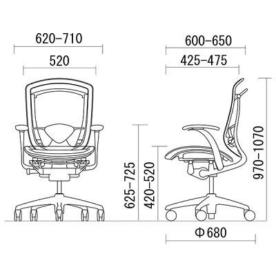 オカムラコンテッサCM21SBスタンダードメッシュチェアヘッドレスト無しフレームカラー:シルバーボディカラー:ネオブラック背:スタンダードメッシュシート:スタンダードメッシュデザインアーム