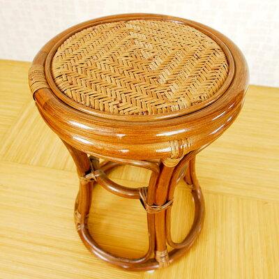 ラタンスツールC412HRラタンかわいい籐製アジアン
