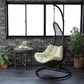 ハンギングチェア ティアー C501PBRW 籐製 アジアン かわいい 卵型 エッグ型 たまご型 ゆらゆら椅子 吊り椅子 吊るし椅子