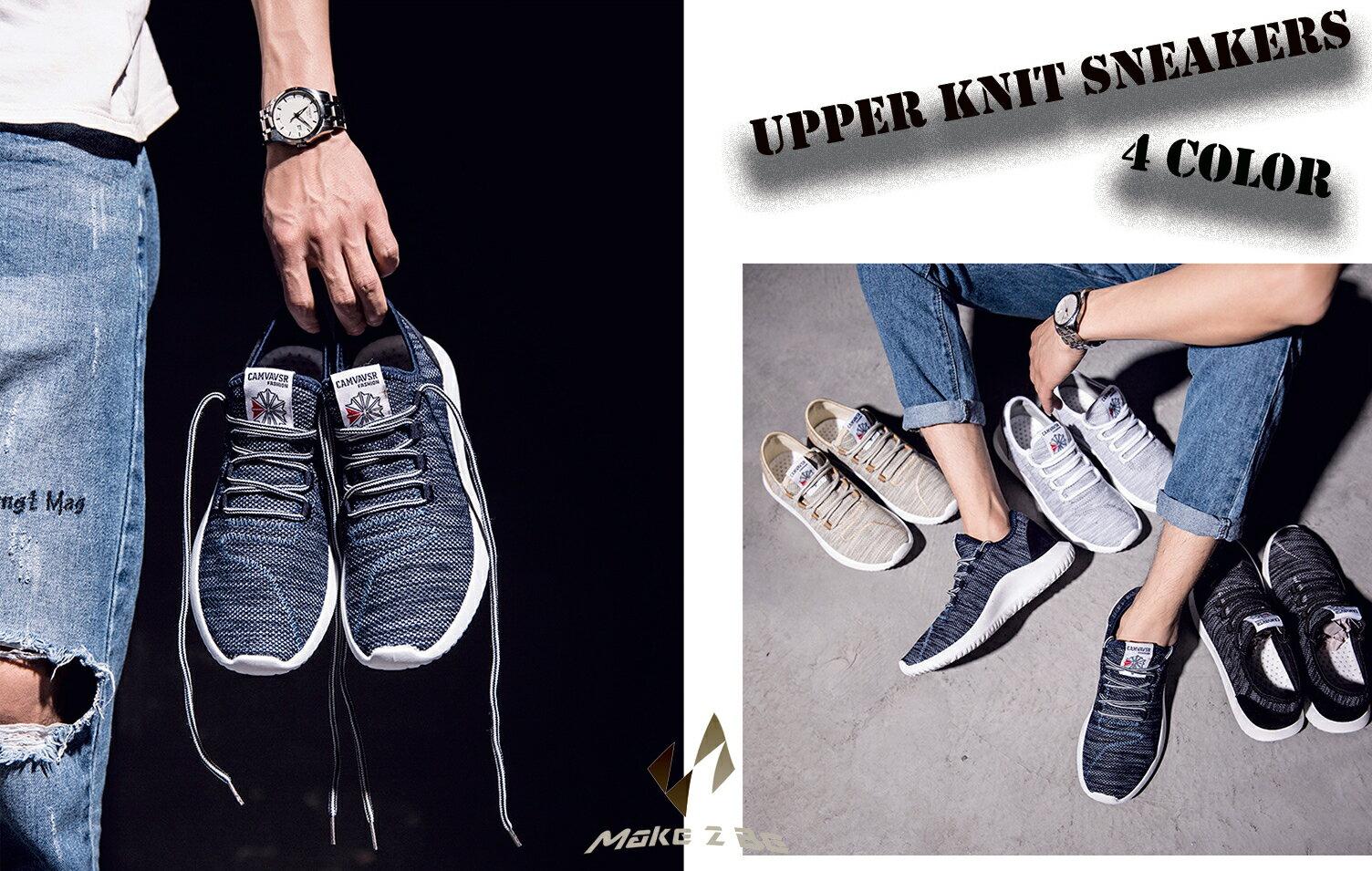 【送料無料】メンズ アッパーニット スニーカー フィット 軽量 靴 シューズ 通気性 ランニング ジョギング シューズ ウォーキング アウトドア MF55