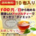 【送料無料】【初回限定】 アップル美TEA 10包入り 美味しく飲んで スッキリ ダイエット 健康 ヤードクカオ 紅茶 アップル ティー 02P06Aug16