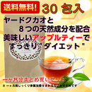 【送料無料】【代引不可】アップル美TEA30包入り美味しく飲んでスッキリダイエット健康ヤードクカオ紅茶アップルティー02P06Aug16