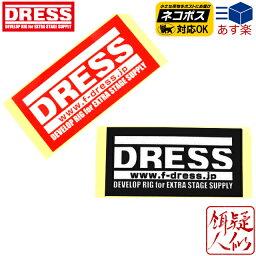 [DRESS(ドレス)]ドレスステッカースクエアS[レッド/ブラック]118mm×60mm