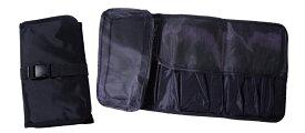 メッシュポーチ付きブラシケース 汚れ防止カバー 弊社オリジナルデザイン《メール便・ネコポス対応 1ヶ購入1梱包、2ヶ同梱不可》汚れ拭き取りシート付 メイクブラシ用 たくさん入れてもゴムベルトでしっかり留めるので安心、カバンの中でもスッキリ