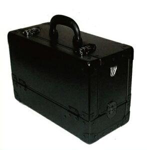 《送料無料》スライド3段トレー 瓶立スペース有り 引き出し付き メイクボックス C型 黒 ブラックプロのメークアップアーティストに一番人気 プロ仕様 コスメケース 化粧道具入れ 化粧箱