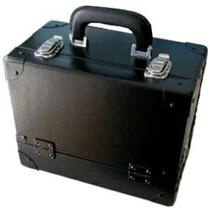 スライド3段トレー メイクボックス 黒 《送料無料》 トレー全て引き出し 軽量化デザイン 日本製プロ仕様 コスメボックス コスメケース 化粧道具入れ メイクアップボックス