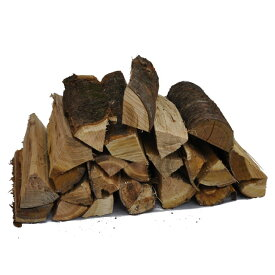 サクラ乾燥薪36cm大中割 20kg箱入 お香のような独特な香りがするサクラの薪。燻製用にも人気があります。太さが色々混じっていて使いやすくおすすめです。 桜