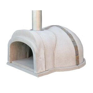 【冷凍生地玉と水牛乳モッツァレラをプレゼント】石窯クロスドーム(タイル:天然石) コンパクトで簡単に設置可能なドーム形状の本格的な石窯キット。燃料に薪を使います ピザ窯 石釜
