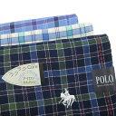 しわになりにくいハンカチ メンズ チェック ポロ POLO 紳士 刺繍 冠婚葬祭 結婚式 スーツ タキシード ブランド メール便