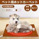 【PSE認証済み】ペット用ホットカーペット 40*33cm 犬 猫 小動物 ペット用ヒーター 湯たんぽ ペット電気毛布 防水 ペ…
